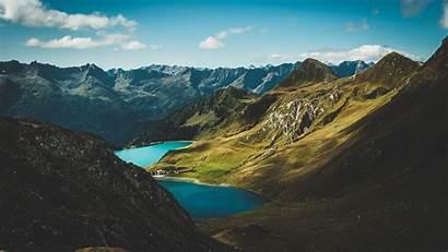Aerial Nature Mountains Lake Landscape 1080p Fhd