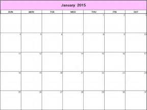 Free Printable 2015 Monthly Calendars 8 X 11 January