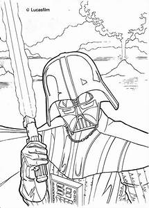 Fighting darth vader coloring pages - Hellokids.com