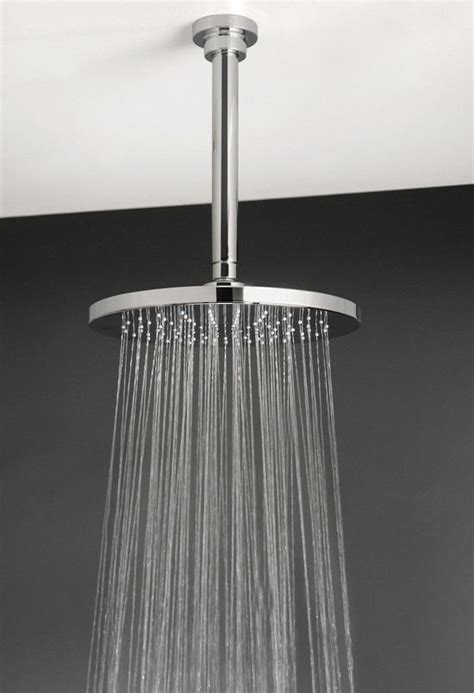 aquatica xera wall or ceiling mounted rain shower head in