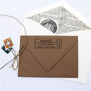 typewriter label custom return address stamp With address labels and stamps