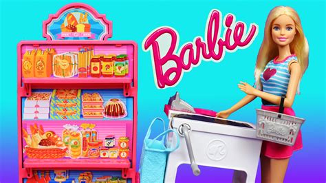New Barbie Grocery Store Market Toy Review With Doll