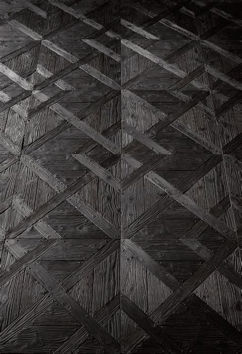 black wooden flooring still or sparkling beautiful mirror glass and patterns