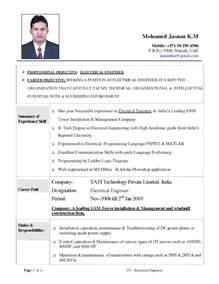 resume fresher electrical engineer resume objective exles electrical engineering free