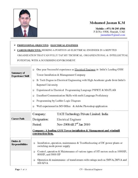 engineering resumes samples sample resumes
