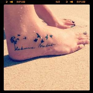 Tattoo - hakuna matata (it means no worries) | Pretty In ...