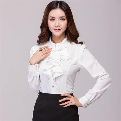 womens white blouse sleeve aliexpress com buy 2015 and autumn plus size