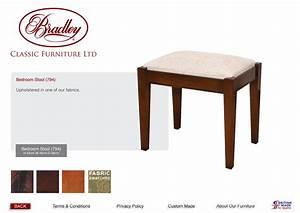 Bradley Classic Furniture 794 Bedroom Stool