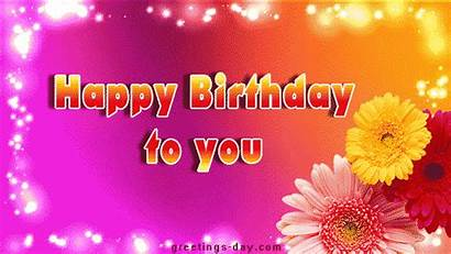 Birthday Happy Animated Cards Gifs Flowers Greetings
