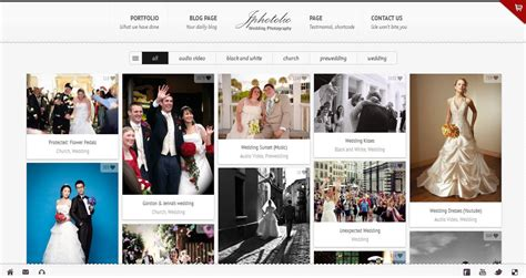 jphotolio responsive wedding photography template
