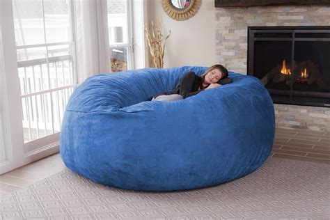 latitude run extra large microsuede bean bag sofa