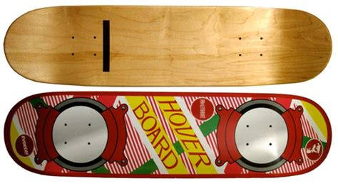 custom hoverboard skateboard deck back to the future radcollector