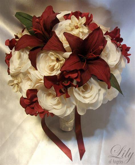 pcs wedding bridal bouquet flowers bride bridesmaid