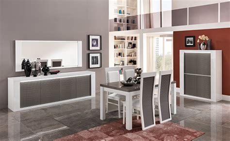 chaise blanche et grise chaise venezia laquée blanc grise blanc gris brillant