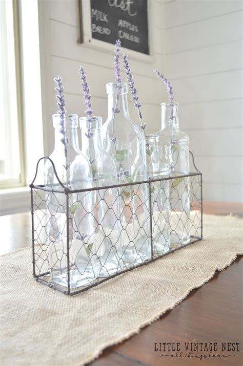 farmhouse style decorating  wire baskets