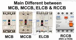 Difference Between Mcb  Mccb  Elcb And Rcb  Rcd Or Rccb