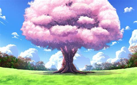1280x800 Anime, Landscapes, Tree, Nature, Art, Upscale