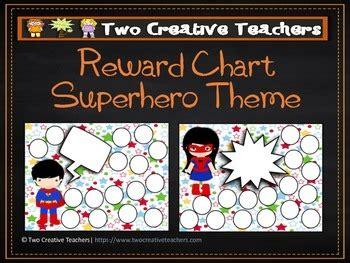 reward chart sticker chart superhero theme   creative