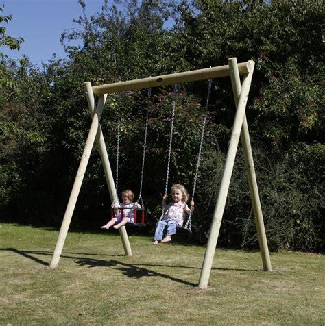 children swing wooden garden swing installations activetoyco
