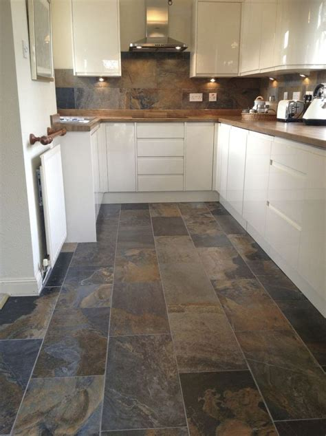 slate floor tile kitchen ideas diy design decor