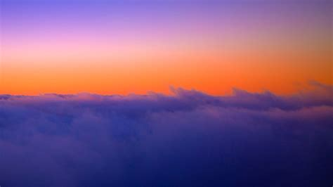 Download Wallpaper 1920x1080 Sky Clouds Height Sunset