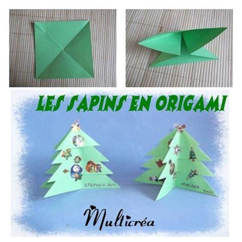 origami noel facile origami facile noel sapin
