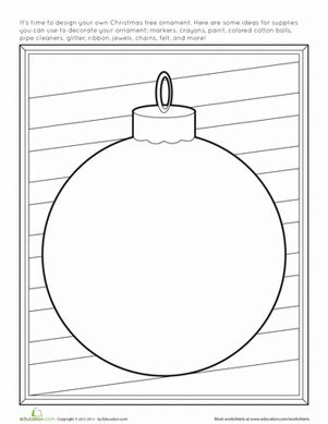 decorate your own christmas tree worksheet ornament worksheet education