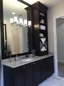 Elegant, Dark, Wood, Cabinets, For, Your, Bathroom