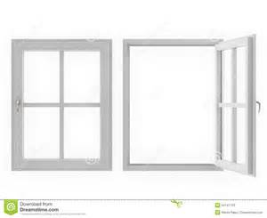 a frame style house plans window open and closed on white background stock