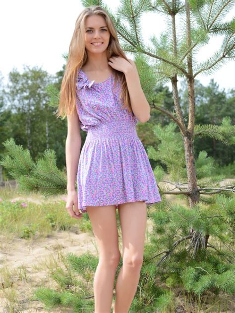 Pretty Nubiles Amazing Long Haired Teen Honey With A