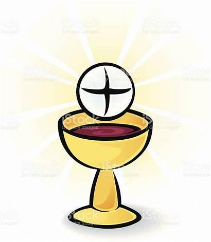 Communion Bread Wine Holy Clipart Vector Clip