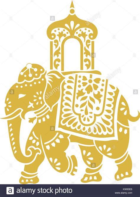 indian pattern elephant stock  indian pattern