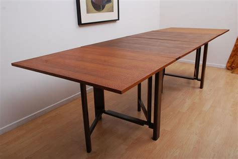 Bruno Mathsson Teak Folding Dining Table.