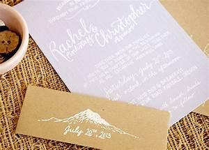 chris rachel39s lavender and kraft mountain inspired With studio 7 wedding invitations