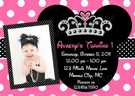 Minnie Mouse Template Invitation by Invitation Template Minnie Mouse