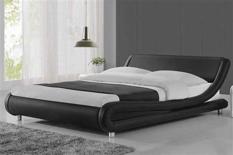 mattress topper madrid modern curved designer bed black faux