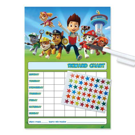 weekly reward chart printable a4 paw patrol reward chart funky monkey house
