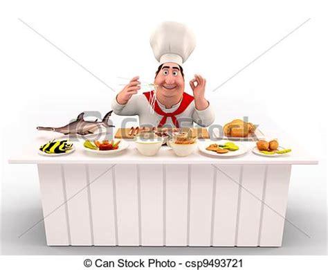 cuisine des chef clipart de chef cuistot table cuisine nouilles 3d