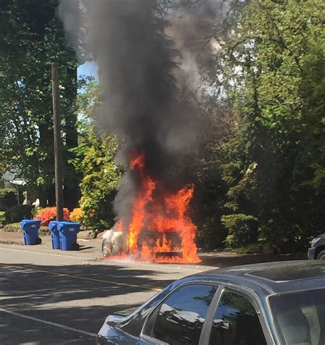 Student's car goes up in flames on Wheeler Street | Mast Media