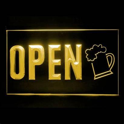 Beer Pub Bar Bubbles Brew Open Led