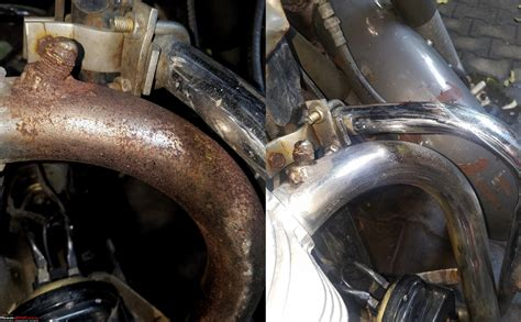 Cleaning The Headers & Exhaust Pipes Of A Motorcycle