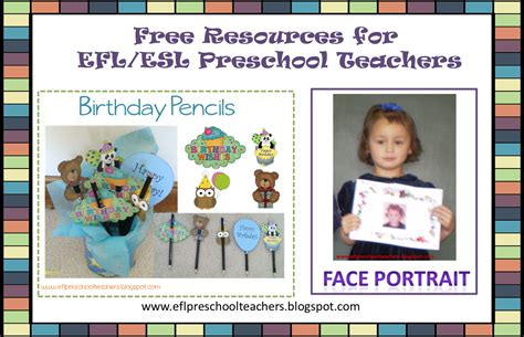 Eslefl Preschool Teachers Free Resources For Eflesl Preschool Teachers
