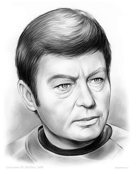 Leonard McCoy Drawing by Greg Joens