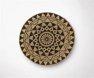 Tapis Rond Design : tapis rond en jute 150cm diam tre design ethnique ~ Teatrodelosmanantiales.com Idées de Décoration