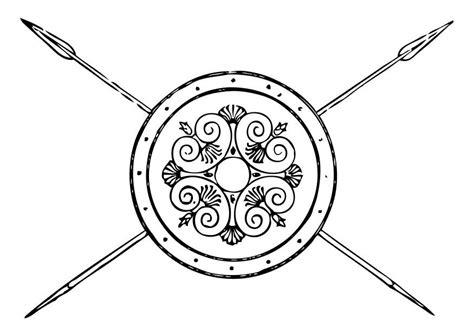 3d Kleurplaat App by Kleurplaat Griekse Speer En Schild Afb 17351 Images
