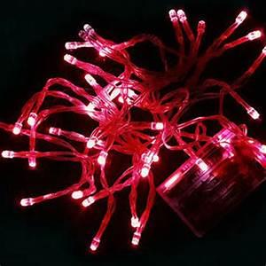 Guirlande Led Pile : guirlande led piles 4 m tres 5 couleurs au choix ~ Teatrodelosmanantiales.com Idées de Décoration