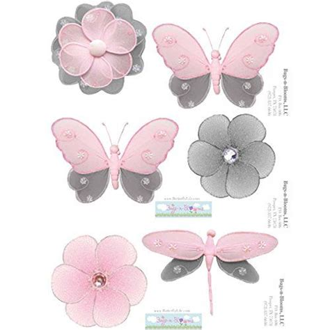 childrens bedroom wall decorations butterfly wall decal stickers gray grey pink butterflies