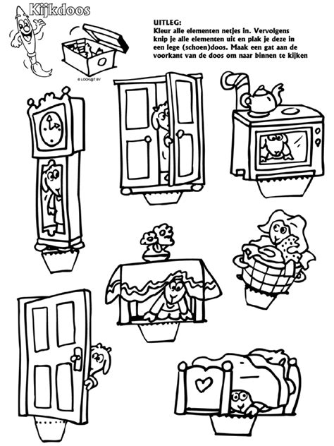 Kleurplaat 7 Geitjes by Sprookjes 7 Geitjes Kijkdoos Knutselpagina Nl