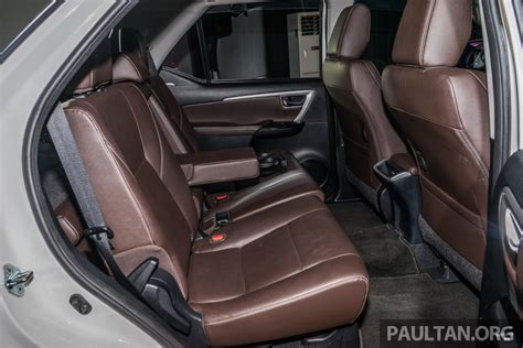 Indiabound 2016 Toyota Fortuner Rear Seat Launched In