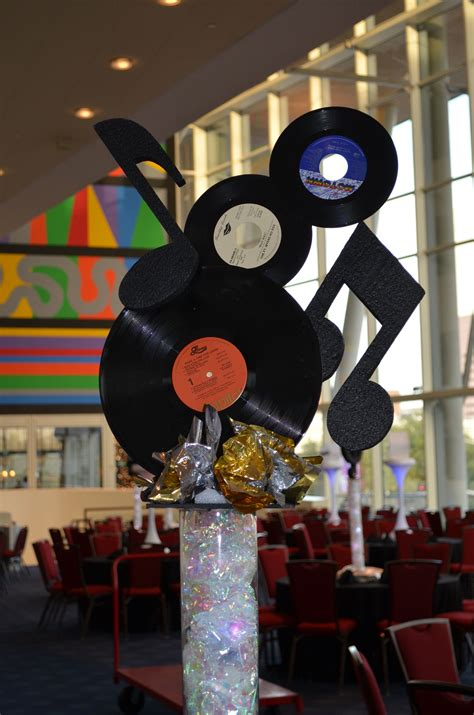 Musicrock & Roll Centerpiece By Ideal Party Decorators